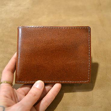 portefeuille classique dur à cuir